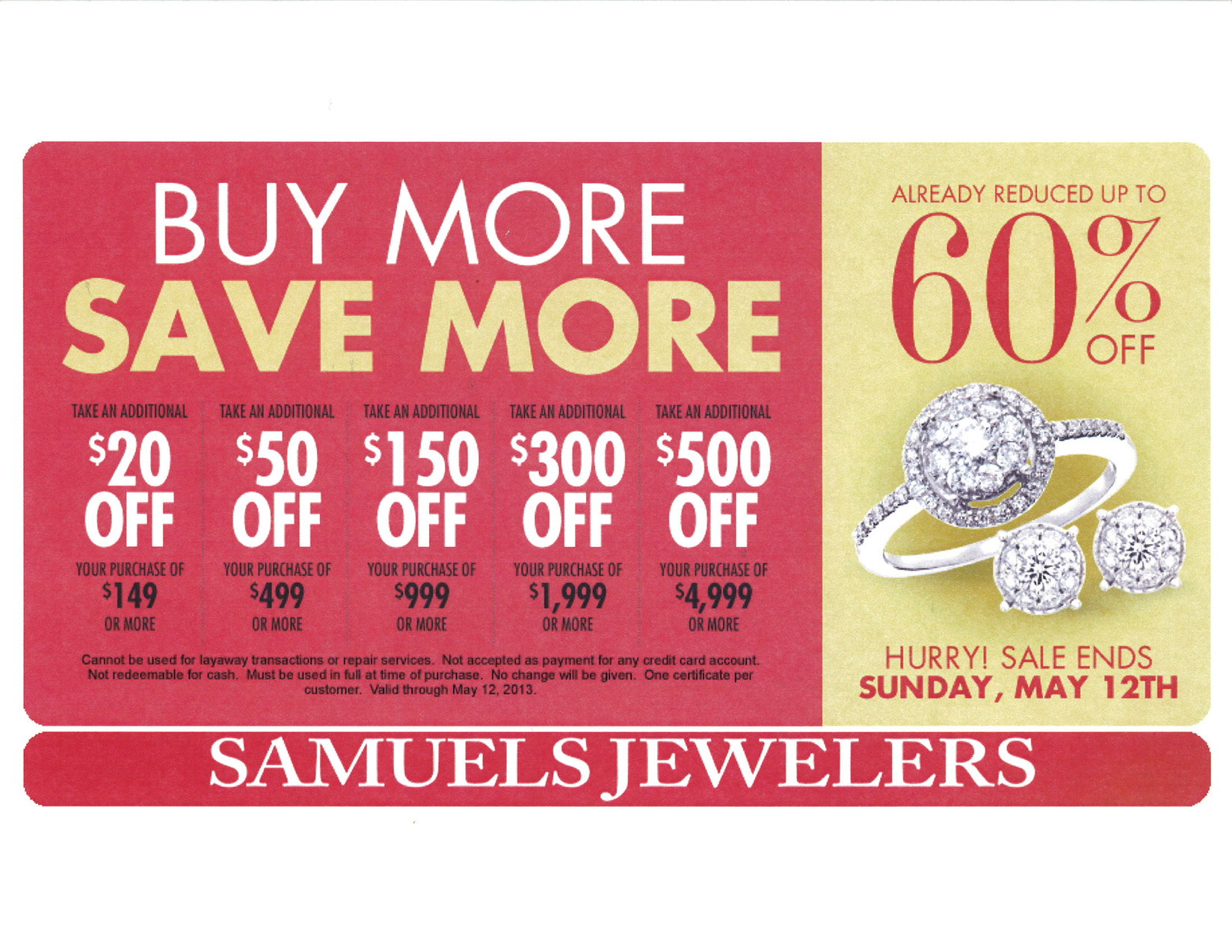 Buy More Save More at Samuels Jewelers | Hemet Valley Mall