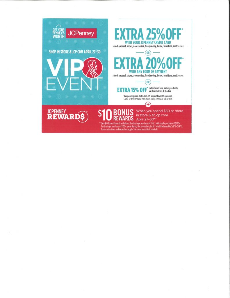 Jcpenney hemet valley mall jcpenney vip event apr 27 30 falaconquin
