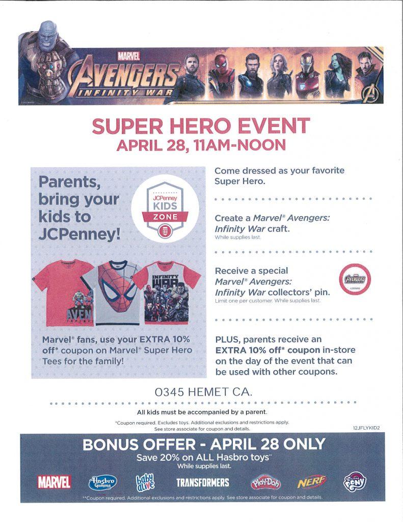 96ad7b05eb1f JCPenney Super Hero Event Apr. 28